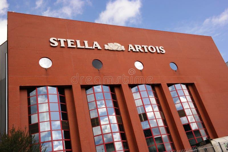 Cervecería de Stella Artois imagen de archivo