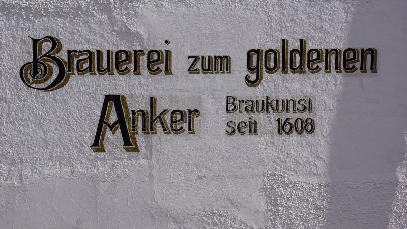 Cervecería en angkor de oro del noerdlingen foto de archivo libre de regalías