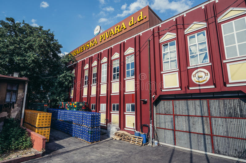 Cervecería en Sarajevo imagenes de archivo
