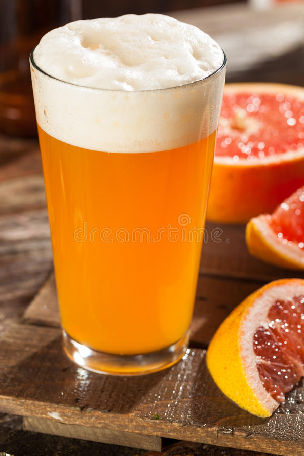 Cerveja ácida do ofício da toranja imagem de stock royalty free