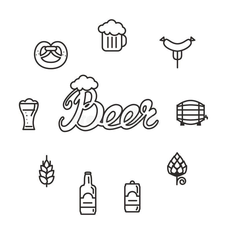 Cerveja ilustração stock