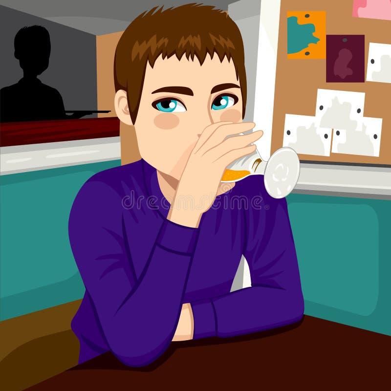 Cerveja bebendo do homem ilustração do vetor