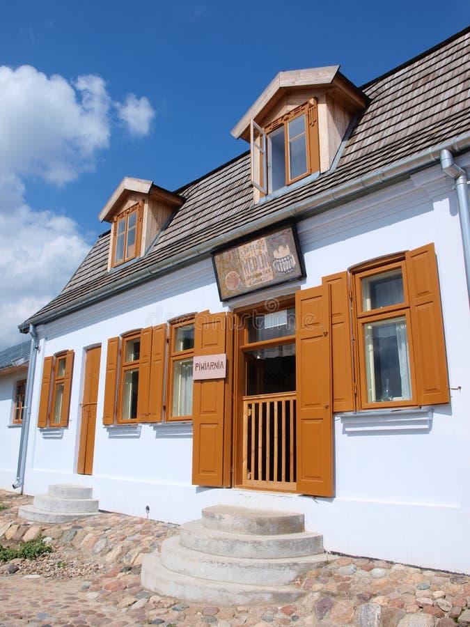 Cerveja-casa, Lublin, Polônia fotografia de stock