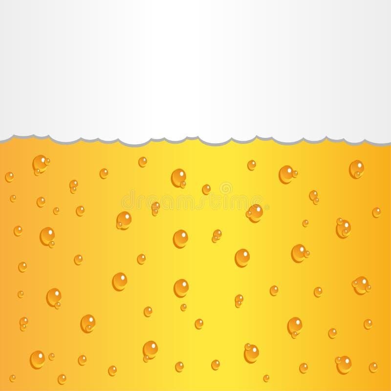 Cerveja com espuma ilustração do vetor
