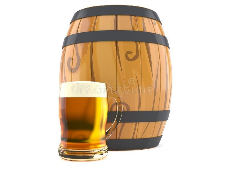 Cerveja com tambor ilustração do vetor