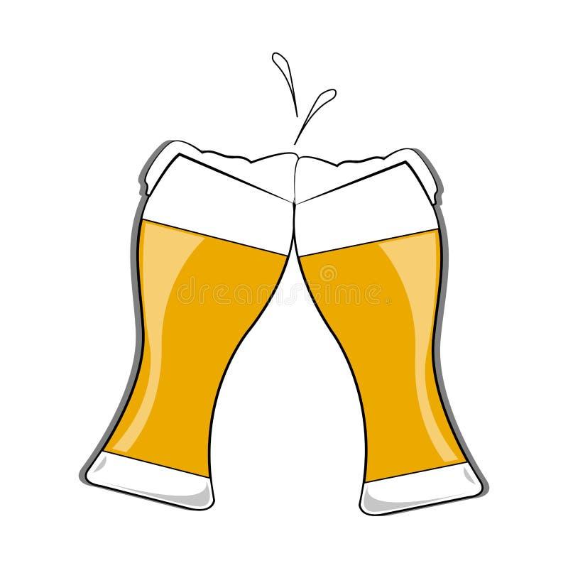 Cerveja deliciosa abstrata ilustração do vetor