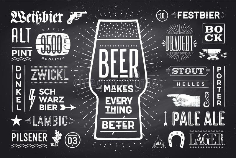 A cerveja do cartaz faz tudo melhor ilustração stock