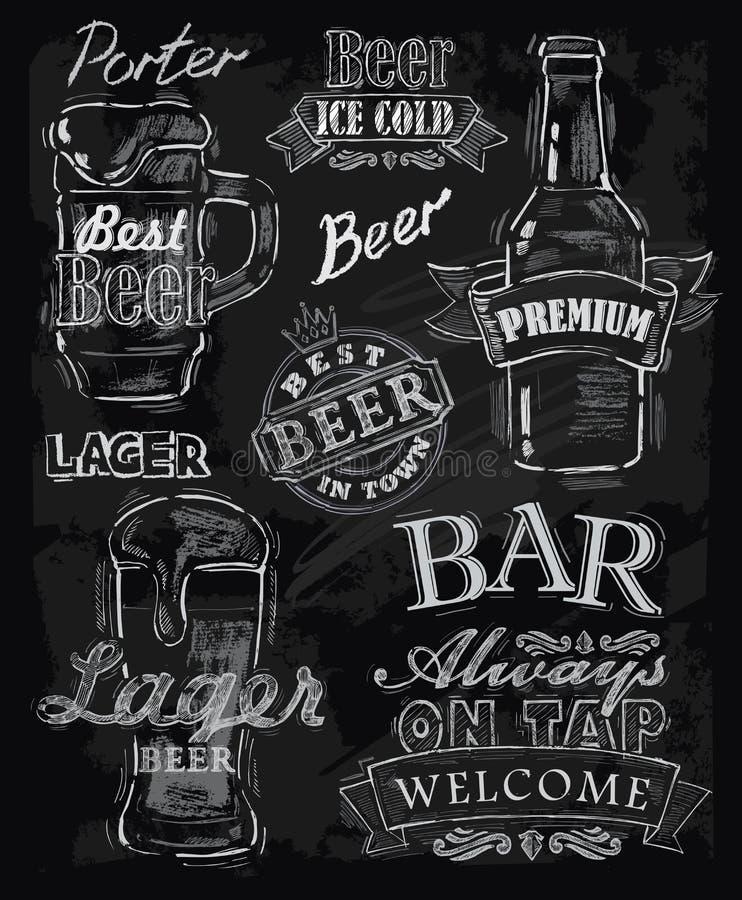 Cerveja do giz ilustração do vetor