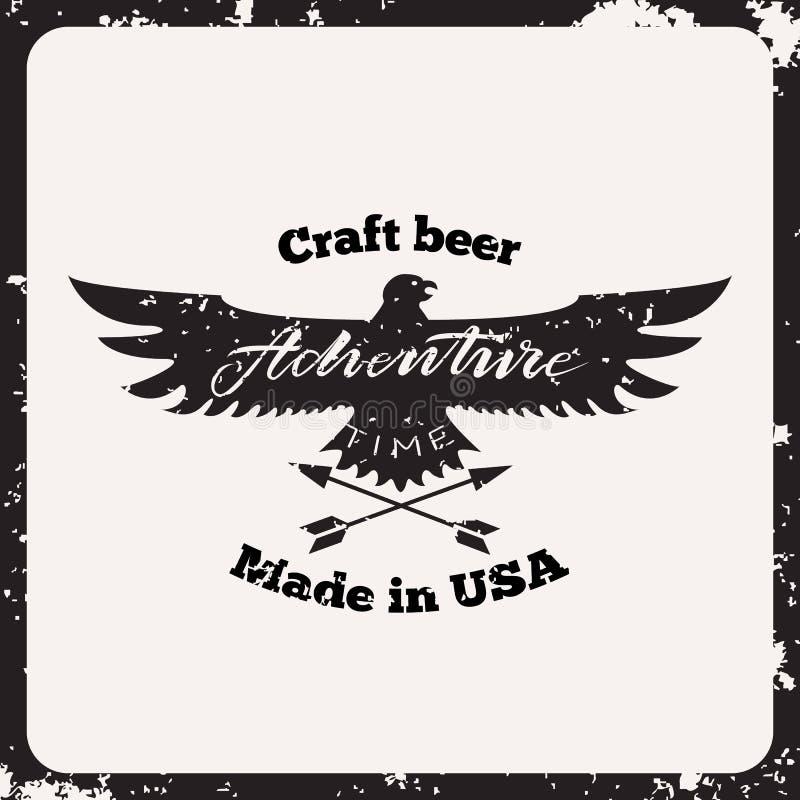 Cerveja do ofício da etiqueta ilustração royalty free