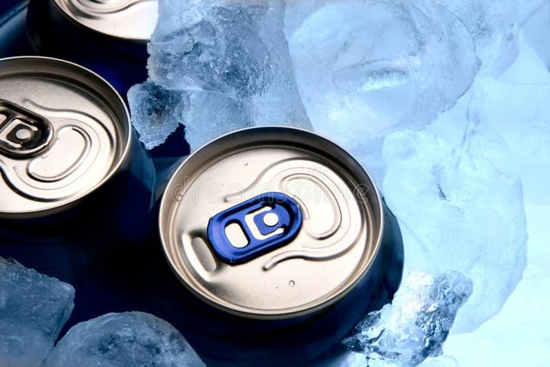 Cerveja e gelo foto de stock