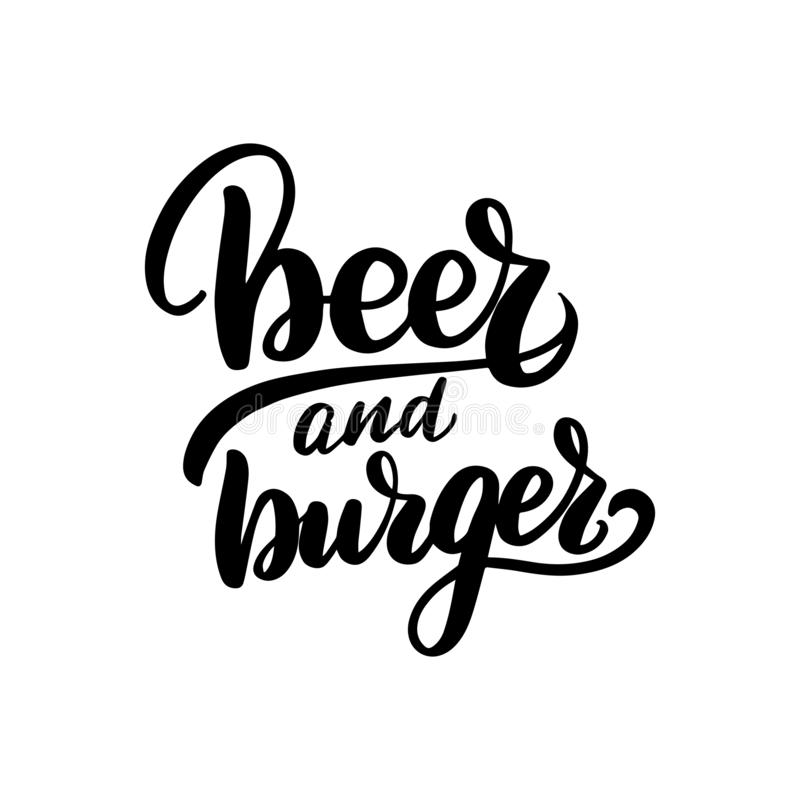 Cerveja e hamburguer ilustração stock