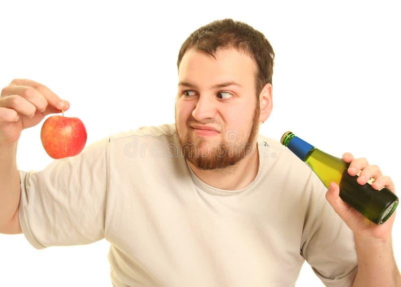 Cerveja e maçã imagens de stock royalty free