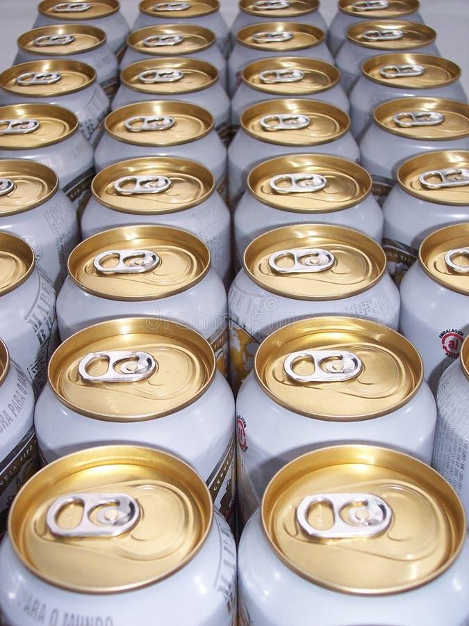 Cerveja em linha reta fotografia de stock royalty free