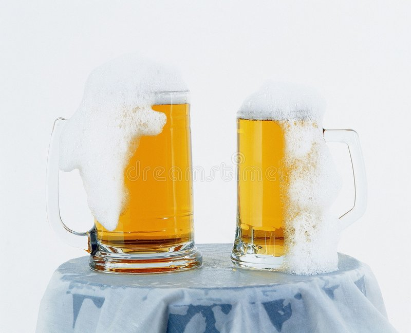 Cerveja fresca foto de stock