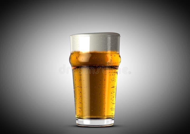 Cerveja imperial da pinta ilustração stock
