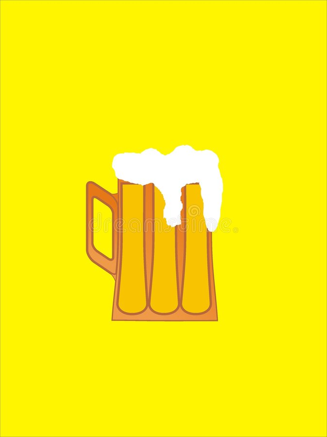 Cerveja no vidro ilustração do vetor