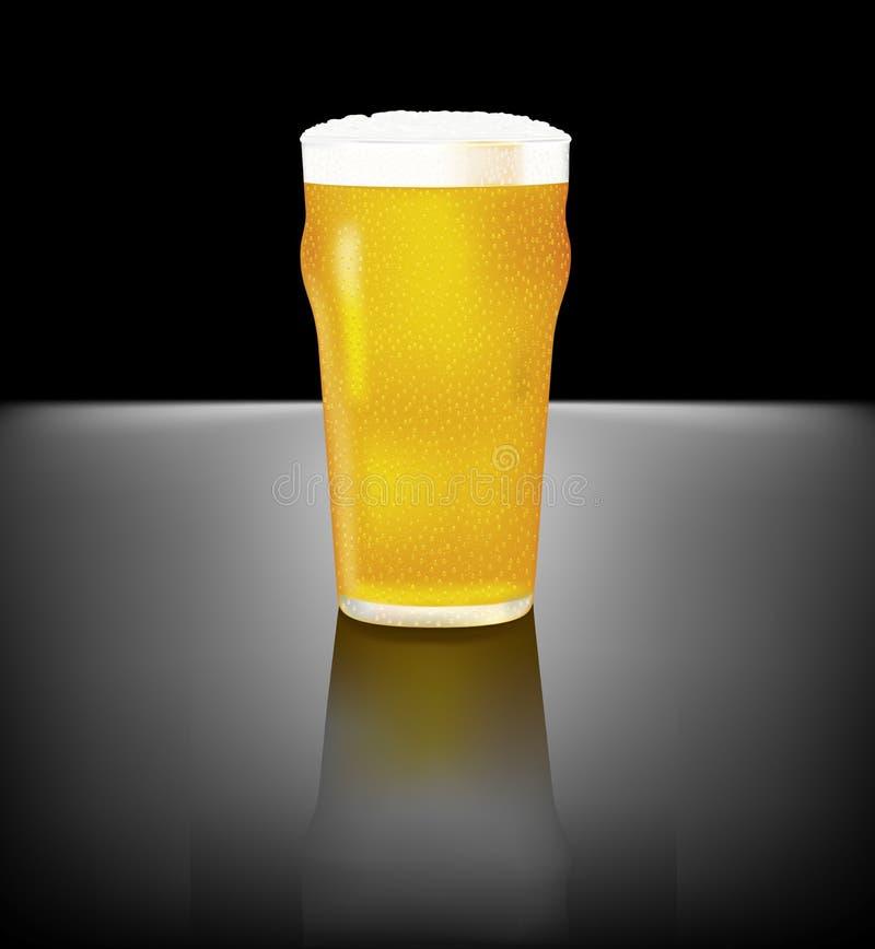 Cerveja refrigerando ilustração royalty free