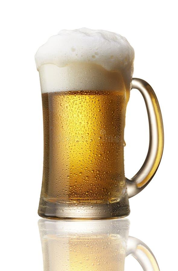 Cerveja sobre o fluxo fotografia de stock royalty free