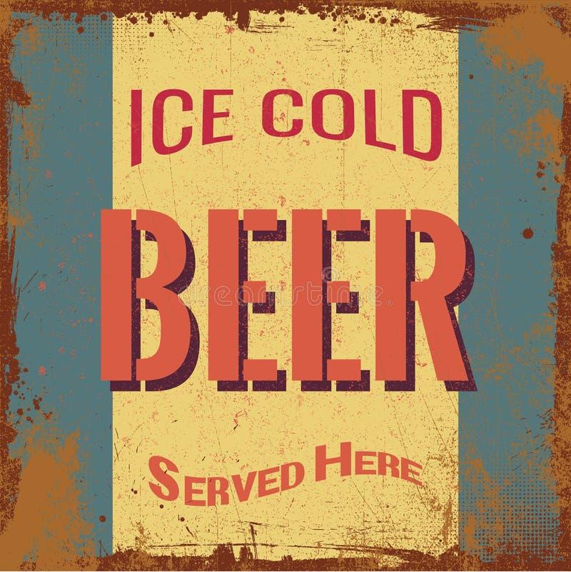 Cerveja Tin Sign do vintage imagem de stock royalty free
