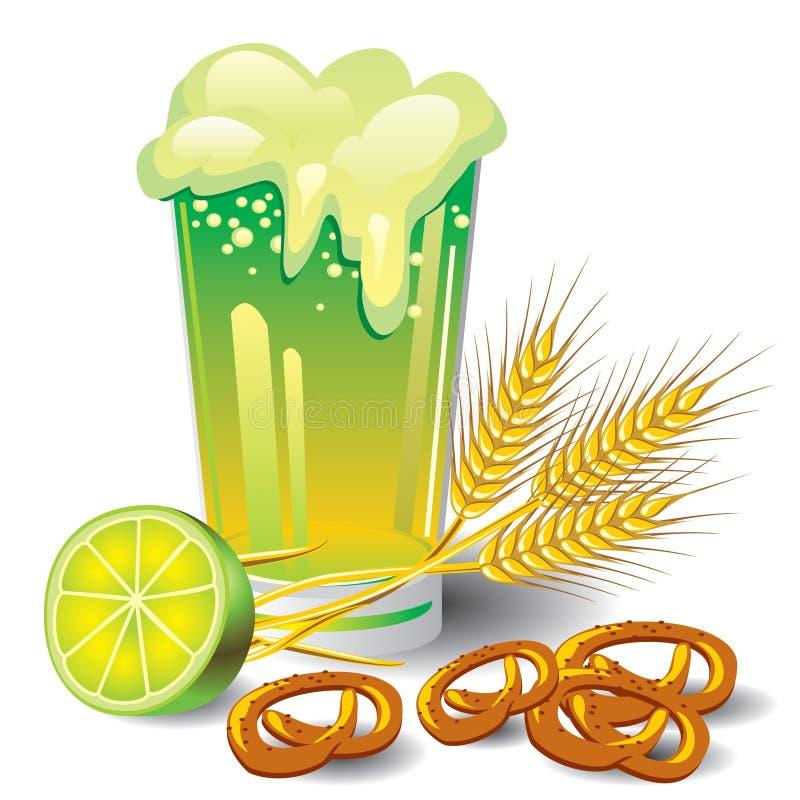 Cerveja verde ilustração do vetor