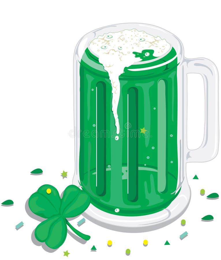 Cerveja verde ilustração royalty free
