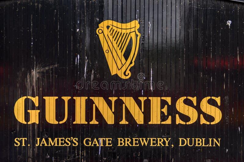 Cervejaria de Guinness, Irlanda foto de stock