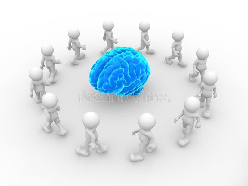 Cervello blu illustrazione vettoriale