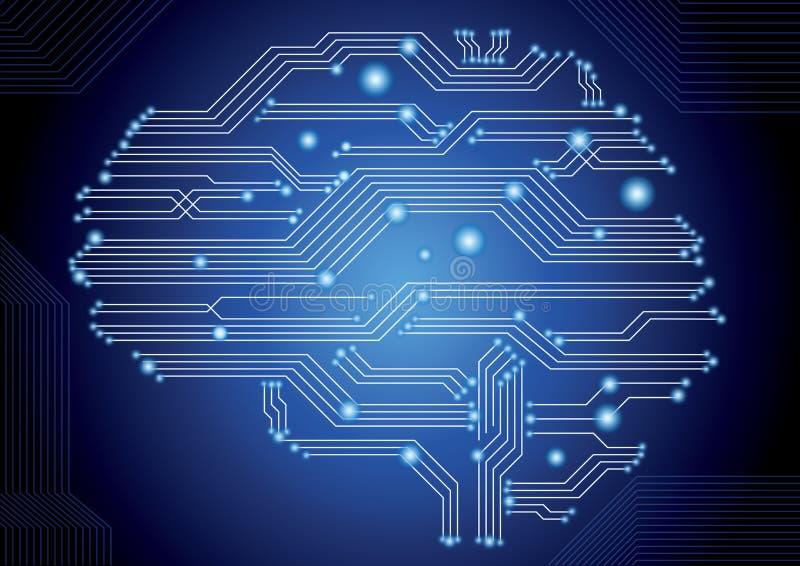 Cervello del circuito illustrazione di stock