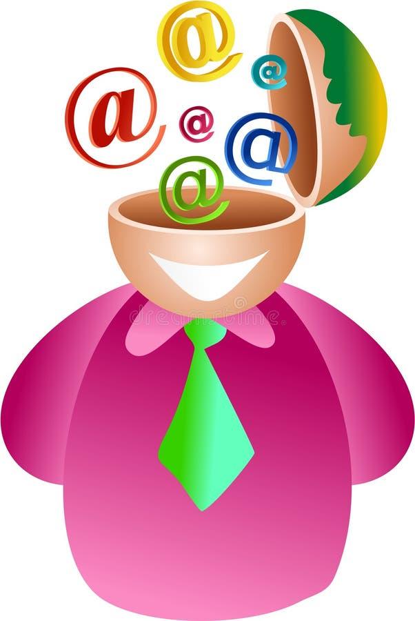 Cervello del email illustrazione di stock