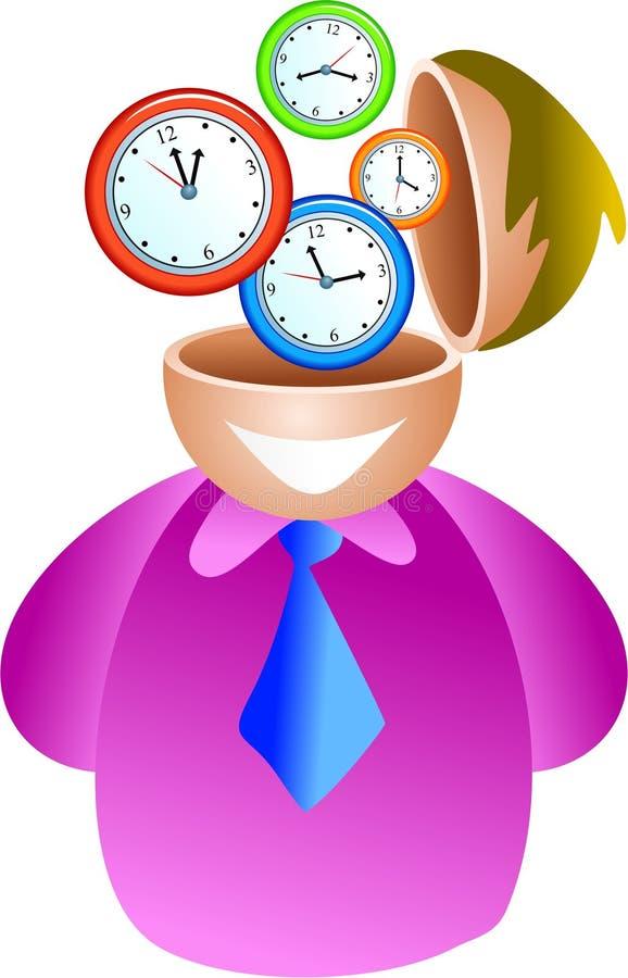 Cervello dell'orologio royalty illustrazione gratis