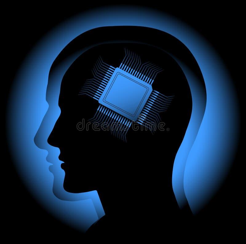 Cervello di Digitahi royalty illustrazione gratis