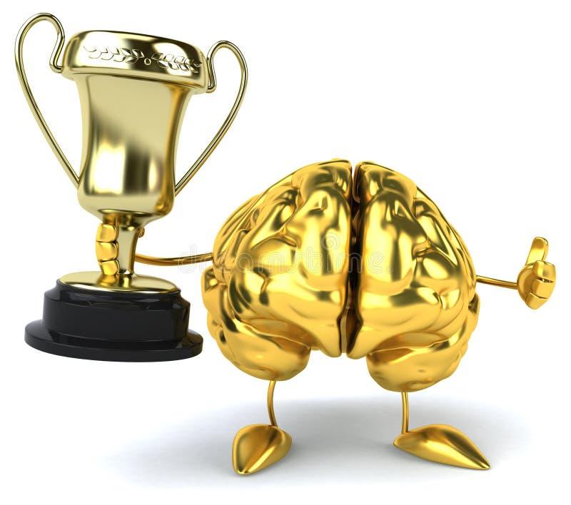 Cervello di divertimento illustrazione di stock