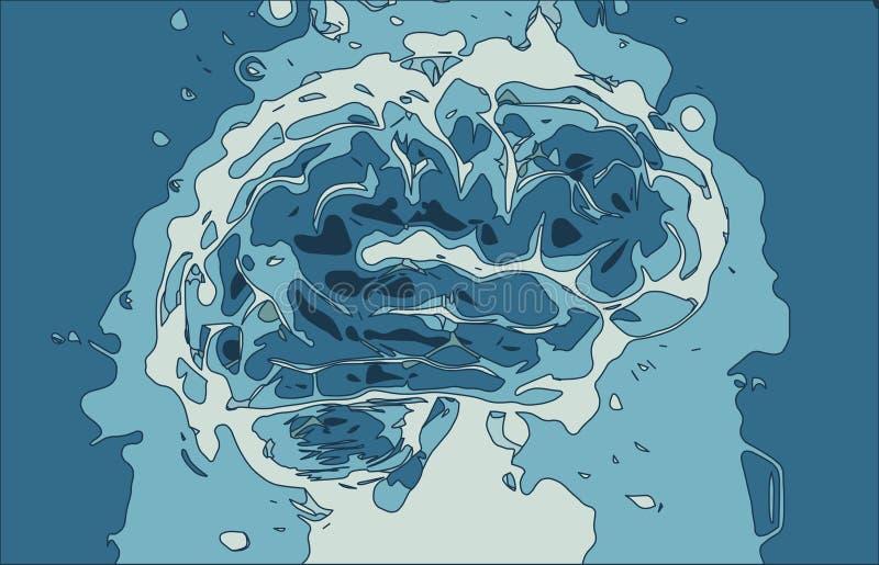 Cervello pazzo fotografie stock libere da diritti