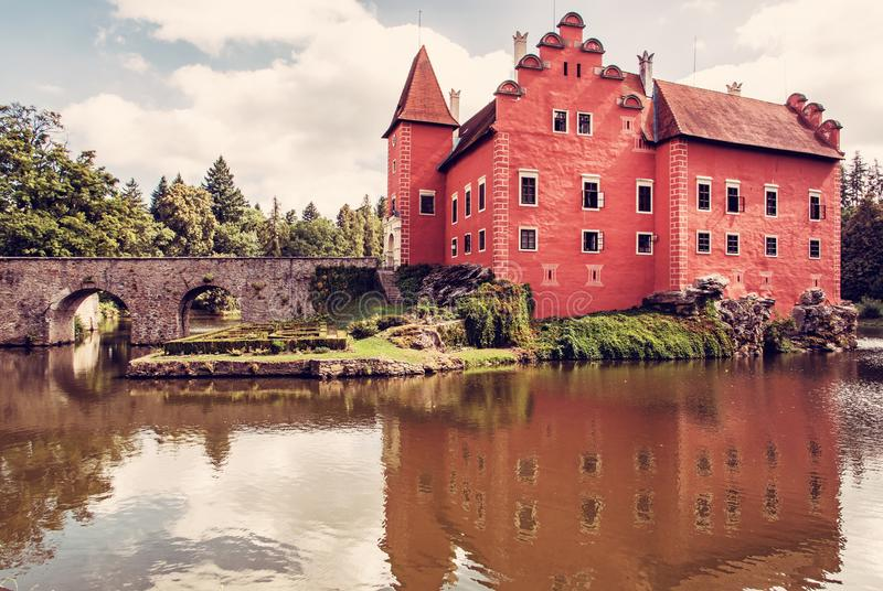 Cervena Lhota is a beautiful chateau in Czech republic royalty free stock image
