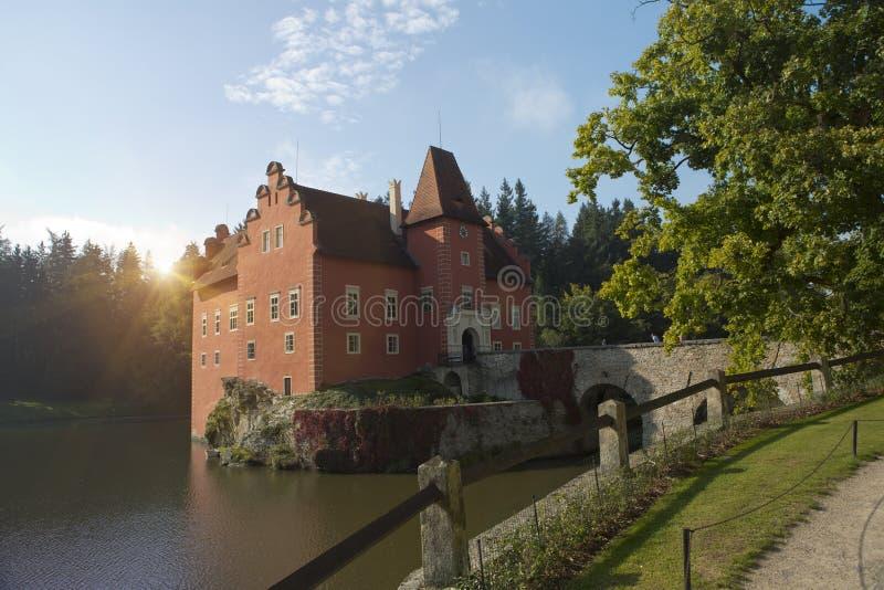 Cervena Lhota. Czech Republic. Castle on the lake.  stock photography