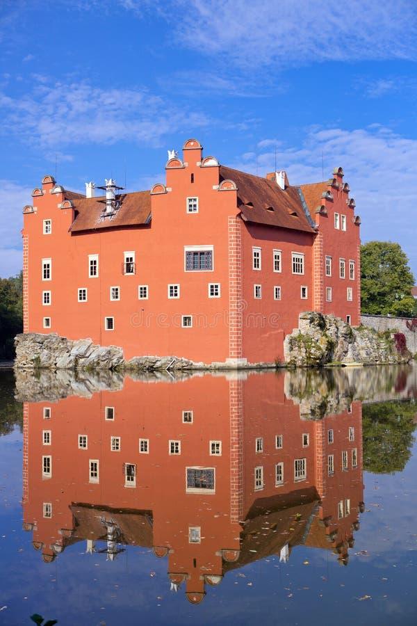 Cervena Lhota. Czech Republic. Castle on the lake stock photography