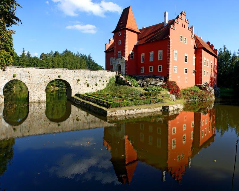 Cervena Lhota slott arkivfoto