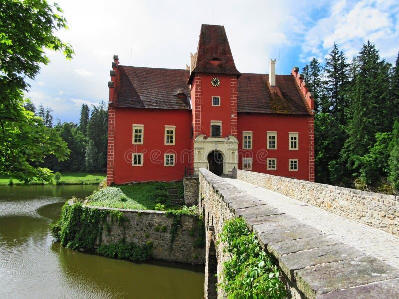 Cervena Lhota slott, tjeckisk republik arkivfoto
