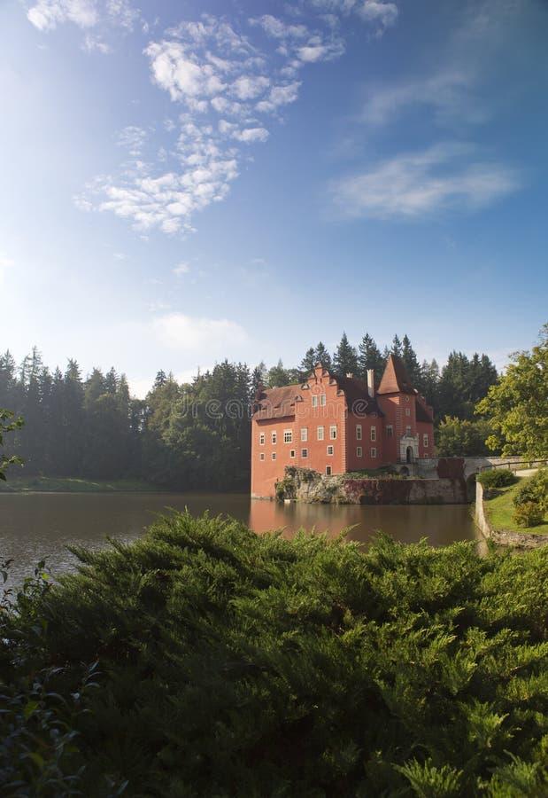 Cervena Lhota Tsjechische Republiek, landschap in de zomer zonnige dag royalty-vrije stock afbeeldingen