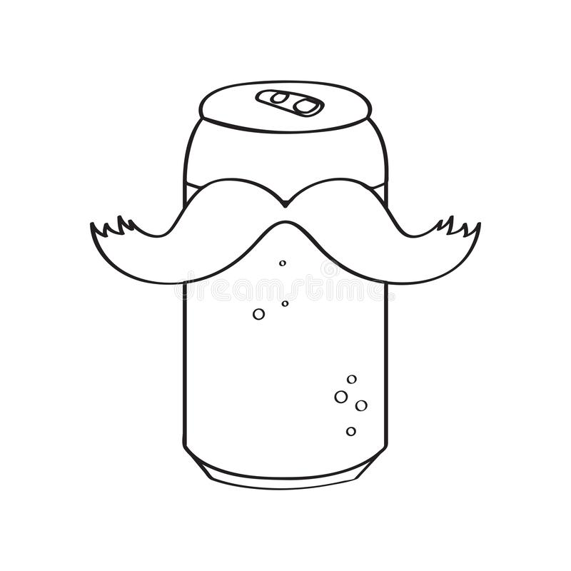 Cerveza conservada inconformista ilustración del vector