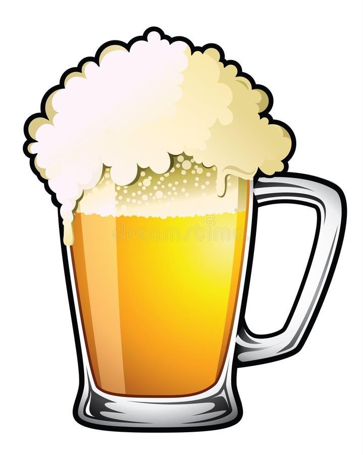Cerveza de barril stock de ilustración