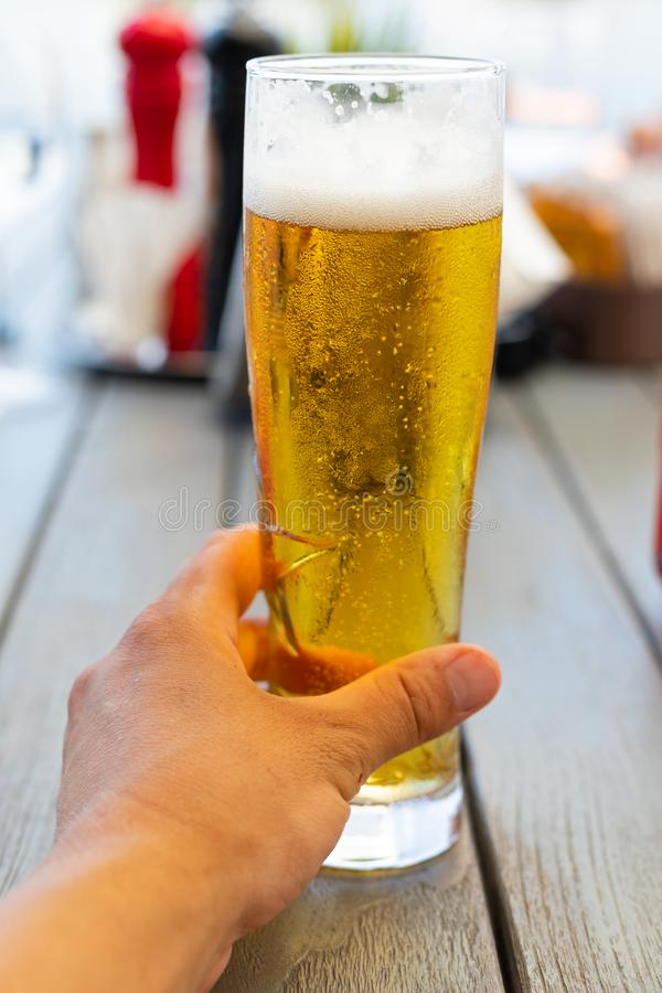 Cerveza de barril fresca foto de archivo