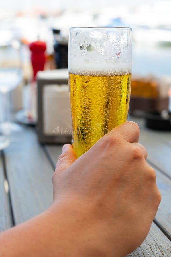 Cerveza de barril fresca fotografía de archivo libre de regalías