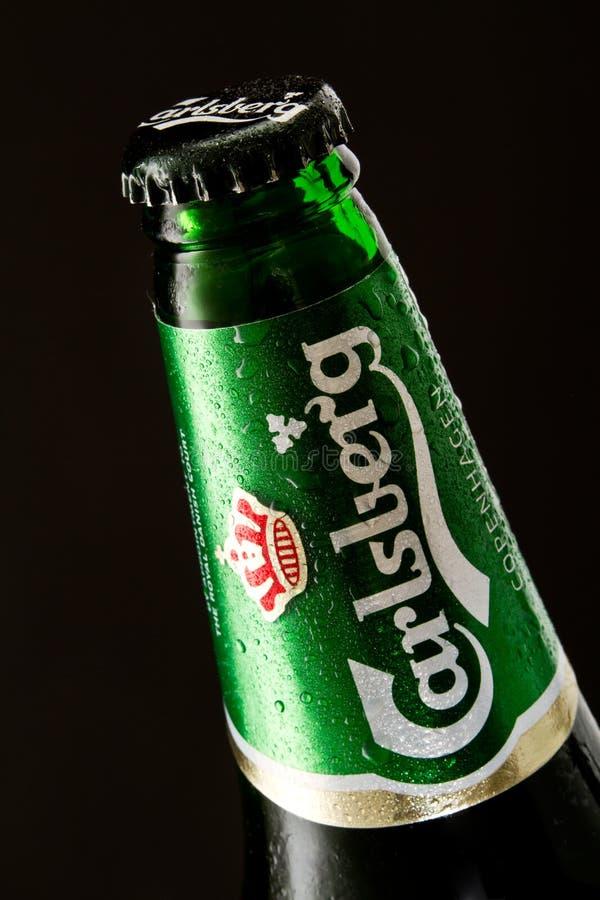 Cerveza de Carlsberg foto de archivo