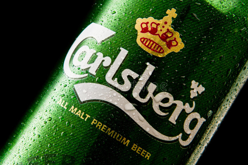Cerveza de Carlsberg imagen de archivo