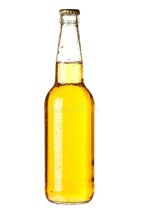 Cerveza de cerveza dorada en botella fotos de archivo libres de regalías