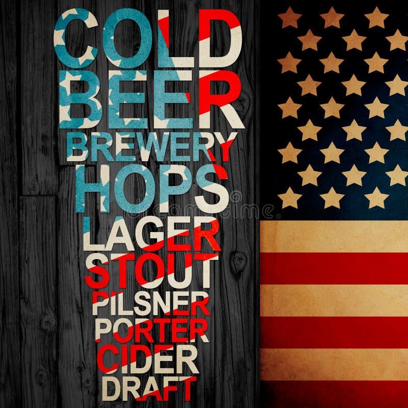 Cerveza de Handrafted del americano ilustración del vector