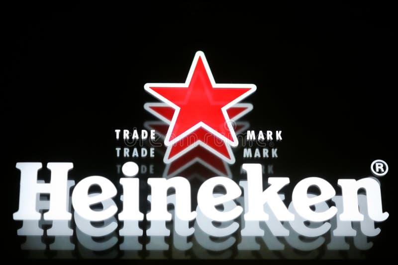 Cerveza de Heineken foto de archivo libre de regalías