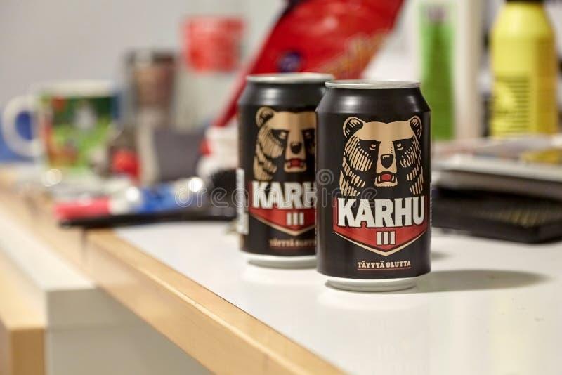 Cerveza de Karhu, Finlandia imagen de archivo libre de regalías