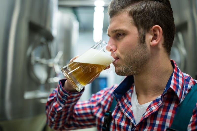 Cerveza de la prueba del cervecero imágenes de archivo libres de regalías